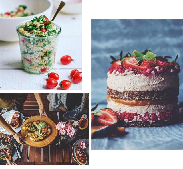 Perfis de culinária no Instagram