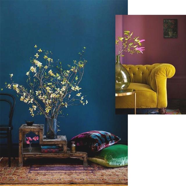 Como misturar cores na decoração