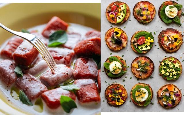 comida saudável e moderna